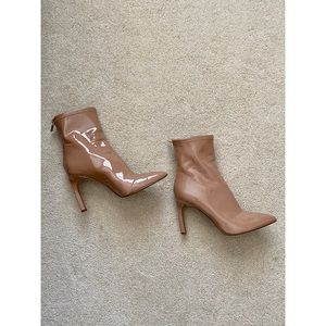 Jessica Simpson Nude Patent Leather Booties